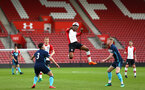 SOUTHAMPTON, ENGLAND - APRIL 23: Nathan Tella (middle) during the PL2 match between Southampton FC and Middlesbrough FC atSt Mary's Stadium on April 23, 2018 in Southampton, England. (Photo by James Bridle - Southampton FC/Southampton FC via Getty Images)