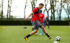 SOUTHAMPTON, ENGLAND - APRIL 24: jan Bednarek during an open training session with Southampton FC at Staplewood Complex on April 24, 2018 in Southampton, England. (Photo by James Bridle - Southampton FC/Southampton FC via Getty Images)