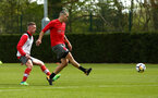 SOUTHAMPTON, ENGLAND - APRIL 26: LtoR Ben Rowthorne, Oriol Romeu during a Southampton FC training session at Staplewood Complex on April 26, 2018 in Southampton, England. (Photo by James Bridle - Southampton FC/Southampton FC via Getty Images)