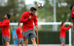 SOUTHAMPTON, ENGLAND - APRIL 26: Sam McQueen during a Southampton FC training session at Staplewood Complex on April 26, 2018 in Southampton, England. (Photo by James Bridle - Southampton FC/Southampton FC via Getty Images)