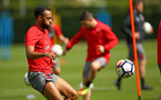 SOUTHAMPTON, ENGLAND - APRIL 26: Nathan Redmond during a Southampton FC training session at Staplewood Complex on April 26, 2018 in Southampton, England. (Photo by James Bridle - Southampton FC/Southampton FC via Getty Images)
