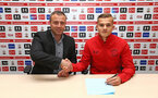 SOUTHAMPTON, ENGLAND - April 27: Southampton FC sign Kornelius Hansen on his first Pro contract, pictured at the Staplewood Campus on April 27, 2018 in Southampton, England. (Photo by James Bridle / Southampton FC via Getty Images)