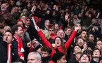 SOUTHAMPTON, ENGLAND - APRIL 28: Southampton fans during the Premier League match between Southampton and AFC Bournemouth at St Mary's Stadium on April 28, 2018 in Southampton, England. (Photo by Chris Moorhouse/Southampton FC via Getty Images)
