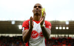 SOUTHAMPTON, ENGLAND - APRIL 28: Mario Lemina claps the fans after the final whistle is blown for the Premier League match between Southampton and AFC Bournemouth at St Mary's Stadium on April 28, 2018 in Southampton, England. (Photo by James Bridle - Southampton FC/Southampton FC via Getty Images)