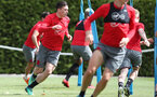 SOUTHAMPTON, ENGLAND - MAY 03: Pierre-Emile Hojbjerg during a Southampton FC training session at the Staplewood Campus on May 3, 2018 in Southampton, England. (Photo by Matt Watson/Southampton FC via Getty Images)