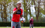 SOUTHAMPTON, ENGLAND - MAY 03: Mario Lemina shakes his finger during a Southampton FC training session at the Staplewood Campus on May 3, 2018 in Southampton, England. (Photo by Matt Watson/Southampton FC via Getty Images)