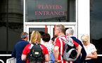 SOUTHAMPTON, ENGLAND - MAY 08: Fans watch as Swansea City play Southampton FC at Liberty Stadium via video screens to St Mary's Stadium in Southampton on May 08, 2018 in Southampton, England. (Photo by James Bridle - Southampton FC/Southampton FC via Getty Images)
