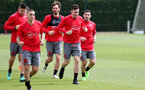 SOUTHAMPTON, ENGLAND - MAY 11: players warm up during a Southampton FC training session at the Staplewood Campus on May 11, 2018 in Southampton, England. (Photo by Matt Watson/Southampton FC via Getty Images)