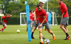 SOUTHAMPTON, ENGLAND - MAY 11: Cedric (Middle) during a Southampton FC training session at Staplewood Complex on May 11, 2018 in Southampton, England. (Photo by James Bridle - Southampton FC/Southampton FC via Getty Images)