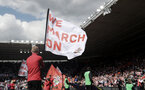 SOUTHAMPTON, ENGLAND - MAY 13: We March On flags during the Premier League match between Southampton and Manchester City at St Mary's Stadium on May 13, 2018 in Southampton, England. (Photo by Matt Watson/Southampton FC via Getty Images)