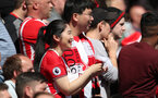 SOUTHAMPTON, ENGLAND - MAY 13: fans of Southampton during the Premier League match between Southampton and Manchester City at St Mary's Stadium on May 13, 2018 in Southampton, England. (Photo by Matt Watson/Southampton FC via Getty Images)
