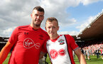 SOUTHAMPTON, ENGLAND - MAY 13: Fraser Forster(L) and James Ward-Prowse of Southampton during the Premier League match between Southampton and Manchester City at St Mary's Stadium on May 13, 2018 in Southampton, England. (Photo by Matt Watson/Southampton FC via Getty Images)