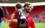 SOUTHAMPTON, ENGLAND - MAY 13: Manolo Gabbiadini of Southampton FC during the lap of appreciation after the Premier League match between Southampton and Manchester City at St Mary's Stadium on May 13, 2018 in Southampton, England. (Photo by James Bridle - Southampton FC/Southampton FC via Getty Images)