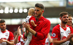 SOUTHAMPTON, ENGLAND - MAY 13: Wesley Hoedt of Southampton FC  during the Premier League match between Southampton and Manchester City at St Mary's Stadium on May 13, 2018 in Southampton, England. (Photo by James Bridle - Southampton FC/Southampton FC via Getty Images)