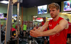 Stuart Armstrong during a gym session of Southampton FC's pre-season tour of China, at the Kunshan training facility, Kunshan, Shanghai, China, 2nd July 2018