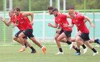 Players are put through thier paces during day 3 of Southampton FC's pre-season tour of China, at the Kunshan training facility, Kunshan, Shanghai, China, 3rd July 2018