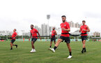 Players pre activate during day 3 of Southampton FC's pre-season tour of China, at the Kunshan training facility, Kunshan, Shanghai, China, 3rd July 2018