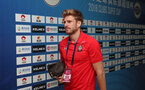 KUNSHAN, CHINA - JULY 05: Stuart Armstrong of Southampton ahead of the pre season 2018 Clubs Super Cup match between Southampton FC and FC Schalke, at Kunshan Sports Center on July 5, 2018 in Kunshan, China. (Photo by Matt Watson/Southampton FC via Getty Images)