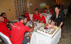 KUNSHAN, CHINA - JULY 05: Charlie Austin of Southampton FC celebrates his 28th Birthday, at the team hotel while on the Southampton FC pre season tour of China, on July 5, 2018 in Kunshan, China. (Photo by Matt Watson/Southampton FC via Getty Images)