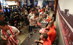 SHANGHAI, CHINA - JULY 06: Southampton FC players visit the Under Armour store while on their pre season tour of China, on July 6, 2018 in Shanghai, China. (Photo by Matt Watson/Southampton FC via Getty Images)