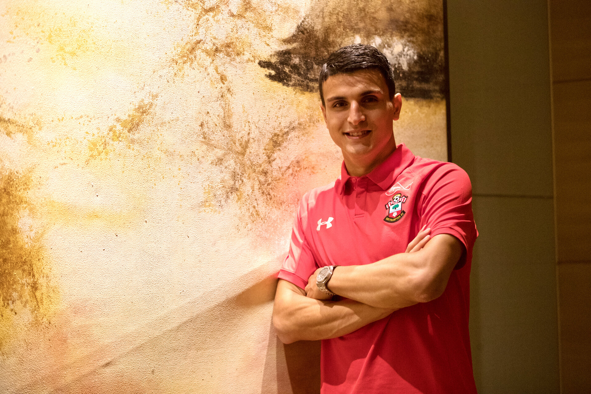 SHANGHAI, CHINA - JULY 07: Latest  Southampton FC signing Mohamed Elyounoussi joins his team mates on their pre season tour of China, on July 7, 2018 in Shanghai, China. (Photo by Matt Watson/Southampton FC via Getty Images)