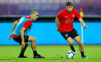 SHANGHAI, CHINA - JULY 09: Oriol Romeu(L) and Stuart Armstrong during a Southampton FC training session, while on their pre season tour of China, on July 6, 2018 in Xuzhou, China. (Photo by Matt Watson/Southampton FC via Getty Images)