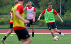 SHANGHAI, CHINA - JULY 10: Jake Vokins during a Southampton FC training session, while on their pre season tour of China, on July 10, 2018 in Xuzhou, China. (Photo by Matt Watson/Southampton FC via Getty Images)