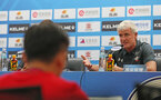 SHANGHAI, CHINA - JULY 10: Mark Hughes during a Southampton FC press conference, while on their pre season tour of China, on July 10, 2018 in Xuzhou, China. (Photo by Matt Watson/Southampton FC via Getty Images)