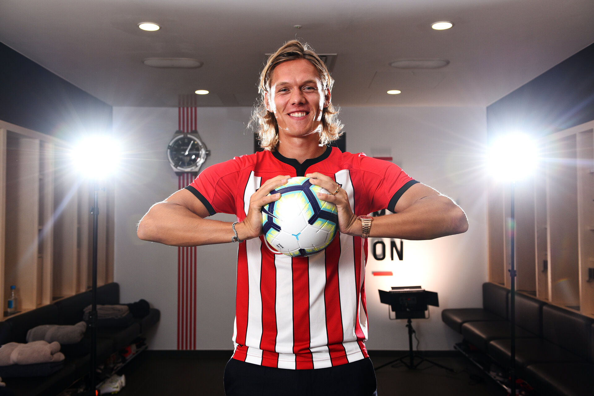 SOUTHAMPTON, ENGLAND - JULY 11: Southampton FC sign Defender Jannik Vestergaard pictured at Staplewood Complex on July 11, 2018 in Southampton, England. (Photo by James Bridle - Southampton FC/Southampton FC via Getty Images)
