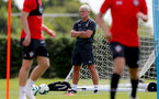 SOUTHAMPTON, ENGLAND - JULY 16: Mark Hughes during a Southampton FC training session at the Staplewood Campus on July 16, 2018 in Southampton, England. (Photo by Matt Watson/Southampton FC via Getty Images)