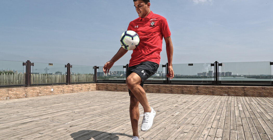 XUZHOU, CHINA - JULY 06: Southampton FC's Mohamed Elyounoussi pictured at the team hotel while on their pre season tour of China, on July 11, 2018 in Xuzhou, China. (Photo by Matt Watson/Southampton FC via Getty Images)