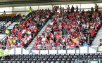 DERBY, ENGLAND - JULY 21: fans of Southampton during the pre-season friendly match between Derby County and Southampton at Pride Park on July 21, 2018 in Derby, England. (Photo by Matt Watson/Southampton FC via Getty Images)