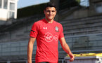 EVIAN-LES-BAINS, FRANCE - JULY 23: Mohamed Elyounoussi as Southampton FC take part in their first day of their pre-season training camp, on July 23, 2018 in Evian-les-Bains, France. (Photo by Matt Watson/Southampton FC via Getty Images)