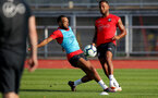 EVIAN-LES-BAINS, FRANCE - JULY 23: Nathan Redmond(L) and Ryan Bertrand as Southampton FC take part in their first day of their pre-season training camp, on July 23, 2018 in Evian-les-Bains, France. (Photo by Matt Watson/Southampton FC via Getty Images)