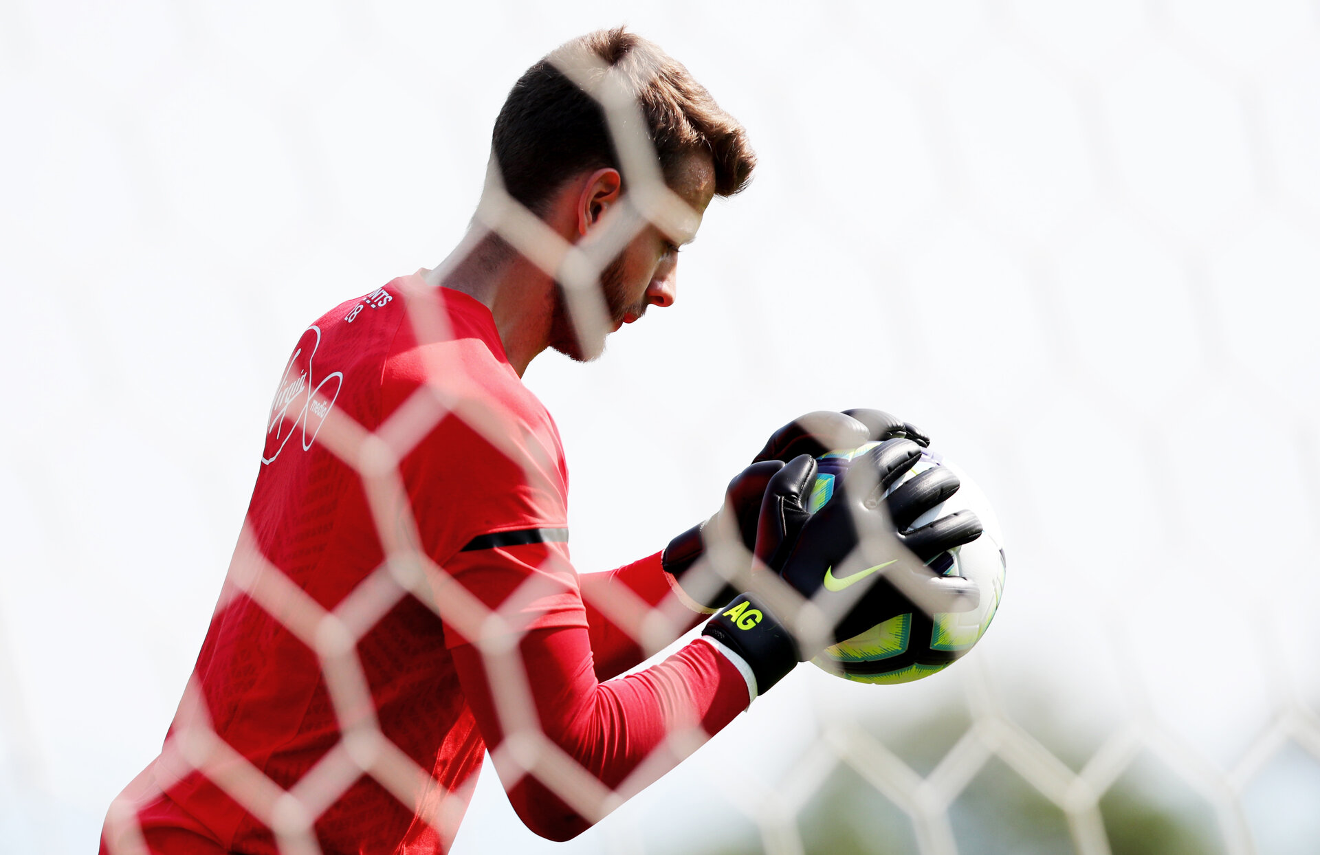 EVIAN-LES-BAINS, FRANCE - JULY 24: Angus Gunn during day 2 of Southampton FC's pre-season training camp on July 24, 2018 in Evian-les-Bains, France. (Photo by Matt Watson/Southampton FC via Getty Images)