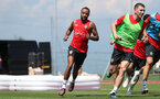 EVIAN-LES-BAINS, FRANCE - JULY 24: Nathan Redmond during day 2 of Southampton FC's pre-season training camp on July 24, 2018 in Evian-les-Bains, France. (Photo by Matt Watson/Southampton FC via Getty Images)