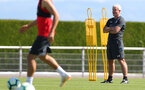 EVIAN-LES-BAINS, FRANCE - JULY 27: Mark Hughes during Southampton FC's pre season training camp, on July 27, 2018 in Evian-les-Bains, France. (Photo by Matt Watson/Southampton FC via Getty Images)