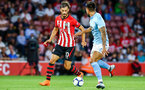 SOUTHAMPTON, ENGLAND - AUGUST 01: Manolo Gabbiadini (left) during the Pre-Season friendly match between Southampton FC and Celta Vigo pictured at St Mary's Stadium on August 1, 2018 in Southampton, England. (Photo by James Bridle - Southampton FC/Southampton FC via Getty Images)