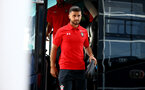 SOUTHAMPTON, ENGLAND - AUGUST 01: Shane Long arrives ahead of the Pre-Season friendly match between Southampton FC and Celta Vigo pictured at St Mary's Stadium on August 1, 2018 in Southampton, England. (Photo by James Bridle - Southampton FC/Southampton FC via Getty Images)