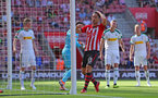 SOUTHAMPTON, ENGLAND - AUGUST 04: Maya Yoshida of Southampton after heading over during the pre-season friendly match between Southampton and Borussia Monchengladbach at St Mary's Stadium on August 4, 2018 in Southampton, England. (Photo by Matt Watson/Southampton FC via Getty Images)
