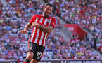 SOUTHAMPTON, ENGLAND - AUGUST 04: Charlie Austin of Southampton during the pre-season friendly match between Southampton and Borussia Monchengladbach at St Mary's Stadium on August 4, 2018 in Southampton, England. (Photo by Matt Watson/Southampton FC via Getty Images)