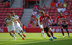 SOUTHAMPTON, ENGLAND - AUGUST 04: Manolo Gabbiadini (Right) of Southampton FC  during the Pre-Season friendly match between Southampton FC and Borussia Mšnchengladbach pictured at St Mary's Stadium on August 4, 2018 in Southampton, England. (Photo by James Bridle - Southampton FC/Southampton FC via Getty Images) SOUTHAMPTON, ENGLAND - AUGUST 04: Manolo Gabbiadini (Right) of Southampton FC  during the Pre-Season friendly match between Southampton FC and Borussia Mönchengladbach pictured at St Mary's Stadium on August 4, 2018 in Southampton, England. (Photo by James Bridle - Southampton FC/Southampton FC via Getty Images)