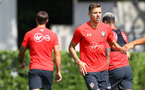 SOUTHAMPTON, ENGLAND - AUGUST 07: Jan Bednarek during a Southampton FC training session at the Staplewood Campus on August 7, 2018 in Southampton, England. (Photo by Matt Watson/Southampton FC via Getty Images)