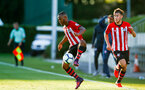 SOUTHAMPTON, ENGLAND - AUGUST 10: LtoR Tyreke Johnson, Jake Vokins during the PL2 match between Southampton FC vs Middlesbrough FC pictured at Staplewood Complex on August 10, 2018 in Southampton, England. (Photo by James Bridle - Southampton FC/Southampton FC via Getty Images)