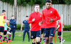 SOUTHAMPTON, ENGLAND - AUGUST 10: Ben Rowthorn (middle) Marcus Barnes (right) during the PL2 match between Southampton FC vs Middlesbrough FC pictured at Staplewood Complex on August 10, 2018 in Southampton, England. (Photo by James Bridle - Southampton FC/Southampton FC via Getty Images)