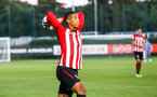 SOUTHAMPTON, ENGLAND - AUGUST 10: Yan Valery makes a throw in during the PL2 match between Southampton FC vs Middlesbrough FC pictured at Staplewood Complex on August 10, 2018 in Southampton, England. (Photo by James Bridle - Southampton FC/Southampton FC via Getty Images)