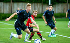 SOUTHAMPTON, ENGLAND - AUGUST 10: Josh Sims (middle) during the PL2 match between Southampton FC vs Middlesbrough FC pictured at Staplewood Complex on August 10, 2018 in Southampton, England. (Photo by James Bridle - Southampton FC/Southampton FC via Getty Images)