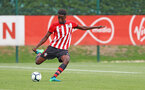 David Agbontahoma during an U18 match between Southampton FC and Chelsea, at the Staplewood Campus, Southampton, 11th August 2018