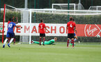 Chelsea score thier third goal during an U18 match between Southampton FC and Chelsea, at the Staplewood Campus, Southampton, 11th August 2018