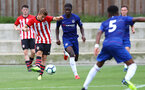 Kornelius Hansen during an U18 match between Southampton FC and Chelsea, at the Staplewood Campus, Southampton, 11th August 2018